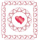 Love Heart Border, Frame Royalty Free Stock Images