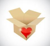 Love heart box illustration design Royalty Free Stock Photography