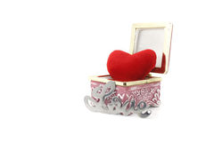 Love and heart in a box Stock Images