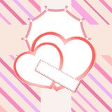 Love heart in bridal valentine cute background Stock Image