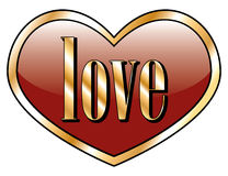 Love Heart Button Stock Images