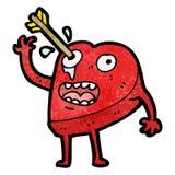 Love heart cartoon character Royalty Free Stock Image