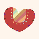 Love heart cartoon elements vector,eps Stock Image