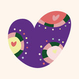 Love heart cartoon elements vector,eps Royalty Free Stock Photo