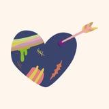 Love heart cartoon elements vector,eps. Vector illustration file Stock Photos