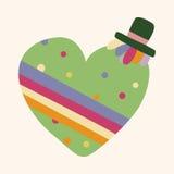 Love heart cartoon elements vector,eps. Vector illustration file Stock Photography