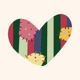 Love heart cartoon elements vector,eps Stock Photos