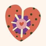 Love heart cartoon elements vector,eps Royalty Free Stock Image