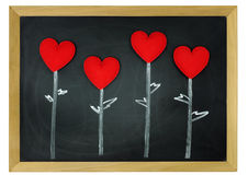 Love heart on a chalkboard Stock Photography