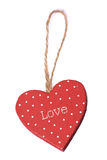 Love heart christmas decoration Stock Images