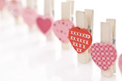 Love heart clip. Red and pink love clip Royalty Free Stock Images