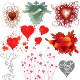 Love heart collection Royalty Free Stock Image