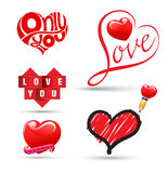Love heart collection. Stock Photo