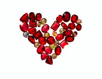 Love heart of colorful jewels. Royalty Free Stock Photo