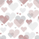 Love heart concept vector illustration for backdrop. Simple stylized abstract seamless pattern for background, wrapping paper, fabric Stock Photo