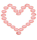 Love heart of condoms Stock Photos
