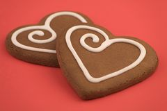 Love heart Cookies Royalty Free Stock Image