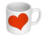 Love heart on cup Stock Images