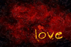 Love and a heart Royalty Free Stock Photography