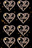 Love heart decoration/background Royalty Free Stock Images