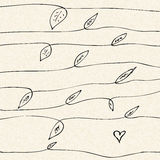 Love heart design on lined paper Stock Images