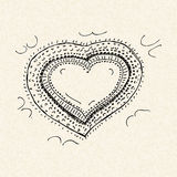 Love heart design on lined paper Stock Image