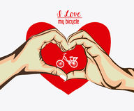 Love heart, design. Over white background Royalty Free Stock Photos