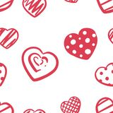 Love, heart, doodle patern -hand draw. vector illustration