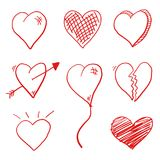 Love Heart Doodle Royalty Free Stock Photography