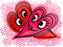 Love Heart Doodles Stock Image