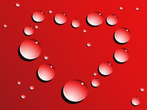 Love heart drops Stock Image