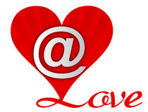 Love Heart Email. Sign isolated on white. vector file available Stock Images