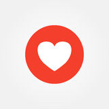 Love heart emoticon vector illustration.  Stock Images