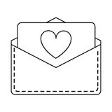 Love heart  envelope mail valentine letter line. Vector illustration eps 10 Royalty Free Stock Photo