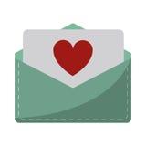 Love heart  envelope mail valentine letter. Vector illustration eps 10 Royalty Free Stock Image