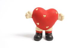 Love Heart Figurine Stock Images