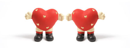 Love Heart Figurines Stock Photo
