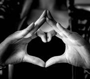 Love. Heart finger symbol Royalty Free Stock Photos