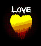 Love heart on fire Royalty Free Stock Photo