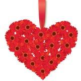 Love heart. Flower bouquet. vector illustration