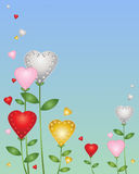 Love heart flowers Royalty Free Stock Images