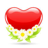 Love heart with flowers Royalty Free Stock Photo