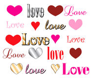 Love Heart Fonts Royalty Free Stock Image