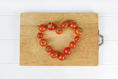 Love heart food tomato Stock Images