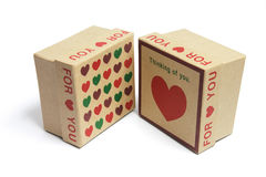 Love Heart Gift Boxes Stock Images