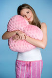 Love Heart Girl. Beautiful girl holding love heart Stock Images