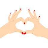 Love Heart Hand Sign Stock Photo