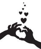 Love heart hands Stock Photo