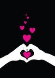 Love heart hands Stock Image