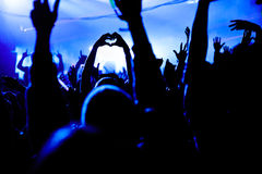Love Heart Hands Silhouette at Festival Stock Photo
